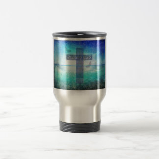 Psalm 73:26  with inspirational contemporary Cross Travel Mug