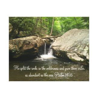 Psalm 78:15 Canvas