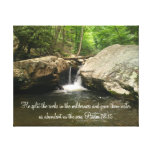 Psalm 78:15 Canvas Stretched Canvas Print