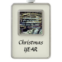 Psalm 78-16 - He Brought Streams ... Christmas Ornament