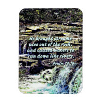 Psalm 78-16 - He Brought Streams ... Magnet
