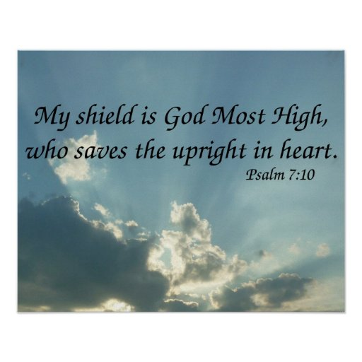 Psalm 7:10 poster