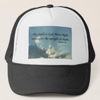 Psalm 7:10 trucker hat