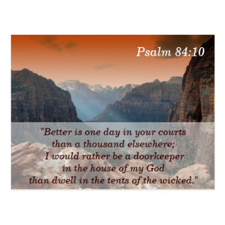 Psalm 84:10 Scripture Memory Card