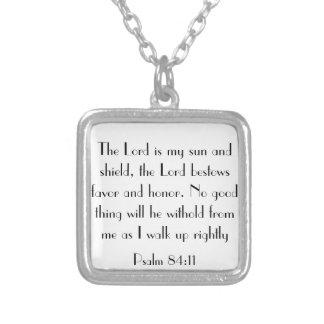 Psalm 84:11 bible verse necklace