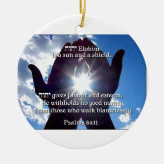 Psalm 84:11 ceramic ornament