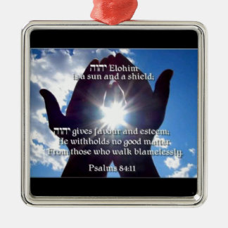 Psalm 84:11 metal ornament
