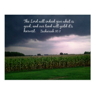 Psalm 85:12 The Lord will indeed give... Postcard