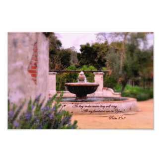 Psalm 87:7  As they make music they will sing Photo Print