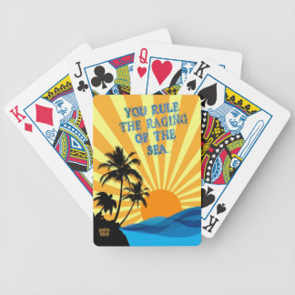 Psalm 89:9 Palm Trees Christian Bible Verse Quote Bicycle Playing Cards