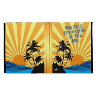 Psalm 89:9 Palm Trees Christian Bible Verse Quote iPad Folio Cases