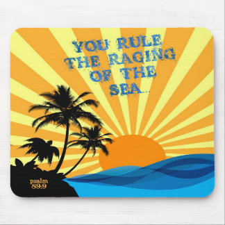 Psalm 89:9 Palm Trees Christian Bible Verse Quote Mousepads