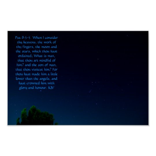 Psalm 8:3- 5 poster