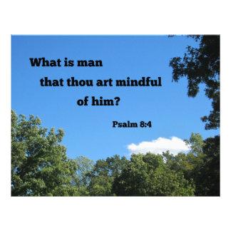 Psalm 8:4 What is man that thou art... Custom Letterhead