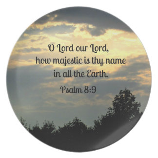 Psalm 8:9 dinner plate
