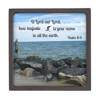 Psalm 8:9 O Lord our Lord how majestic is Keepsake Box