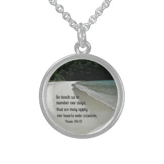 Psalm 90:12 round pendant necklace
