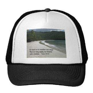 Psalm 90:12 trucker hat