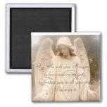 Psalm 91:11 Angels Fridge Magnets