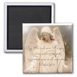 Psalm 91:11 Angels Magnet