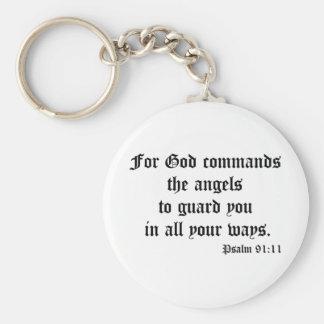 Psalm 91:11 key chain