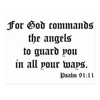 Psalm 91:11 postcard