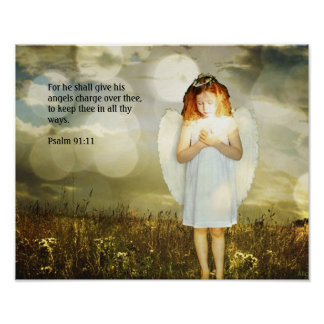 Psalm 91:11 poster