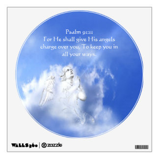 Psalm 91:11 Scripture Angel Watch over You Room Stickers