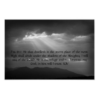 Psalm 91: 1,2 poster
