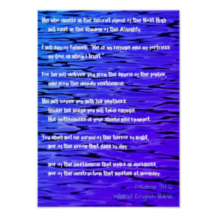 Psalm 91:1-6 Good Words Poster