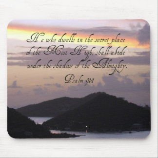 Psalm 91:1 mouse pad