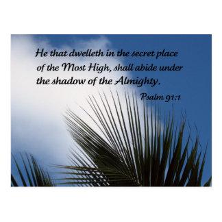 Psalm 91:1 postcard