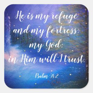 Psalm 91:2 Christian Scripture Stickers