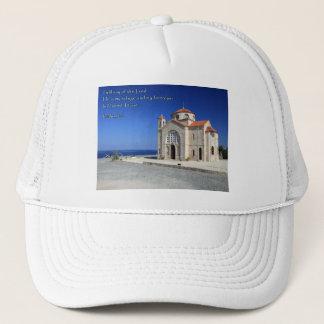 Psalm 91:2 Cyprus Church Trucker Hat