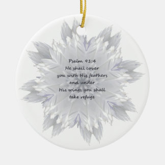 Psalm 91:4 Wings God's protection Ceramic Ornament