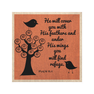 Psalm 91:4 Wrapped Canvas