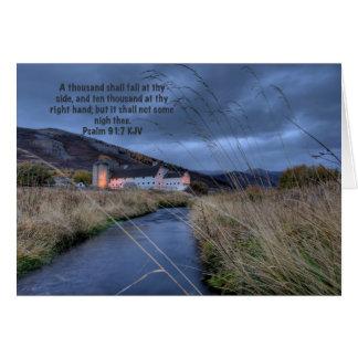 Psalm 91: 7 Greeting Card