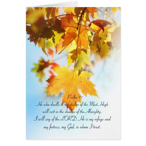 psalm_91_all_text_orange_maple_leaves_card