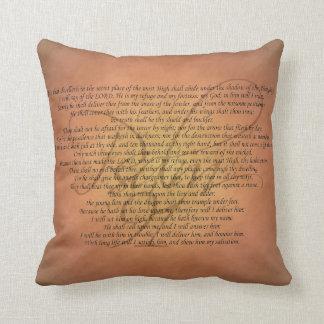 Psalm 91 Bible Verse Throw Pillows
