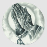 Psalm 91 classic round sticker