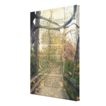 Psalm 91 Forest Photo Christian Bible Verse Wall Canvas Print
