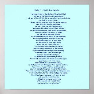 image regarding Psalm 91 Printable named Psalms 91 Posters Image Prints Zazzle