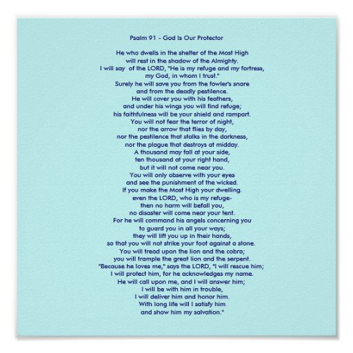 Psalm 91 - God Is Our Protector Posters