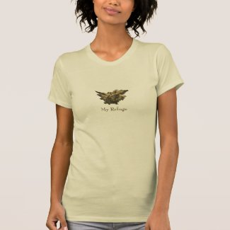 Psalm 91, Gold Angel, Light Brown, T Shirt