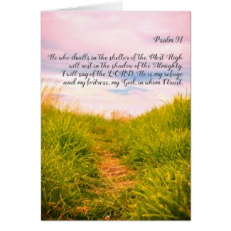 Psalm 91, green grass and a path