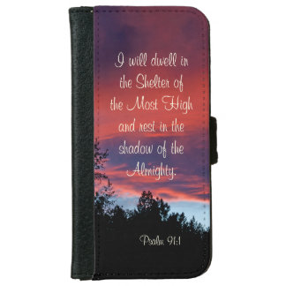 Psalm 91 I will dwell in the secret place, Sunset iPhone 6/6s Wallet Case