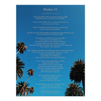 Psalm 91 King James Christian Poster, USA link
