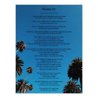 Psalm 91 King James Version Add Name Christian Poster, USA link