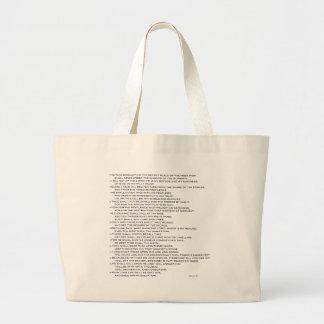 Psalm 91 KVJ Large Tote Bag