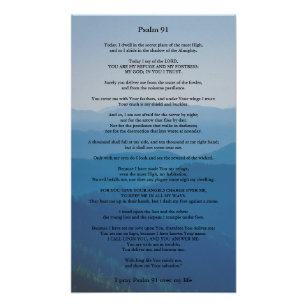 Psalm 91 Poster Can be Personalised
